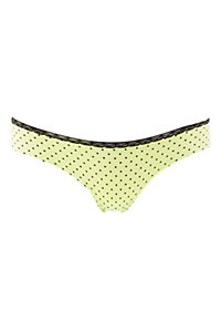 Lace-Trim Polka Dot Thong Panties
