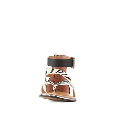 Report Printed Strappy Sandals