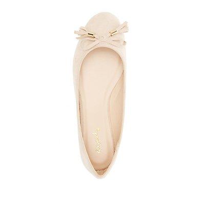 Qupid Tassel Ballet Flats