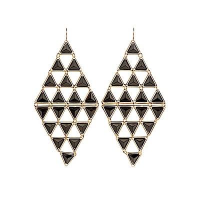 Pyramid Stud Kite Earrings