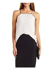 Diamante Trim Strappy Tank