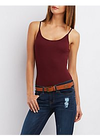 Open-Back Ribbed Bodysuit
