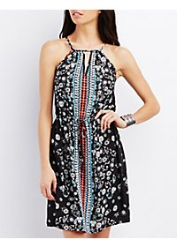 Bib Neck Keyhole Dress