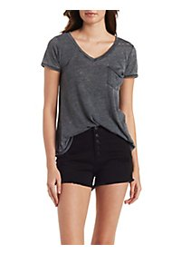 Burnout Boyfriend V-Neck Tee
