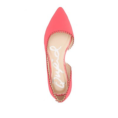 Qupid Scalloped Pointed Toe D'Orsay Flats