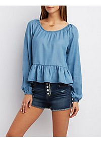 Bloused Chambray Top