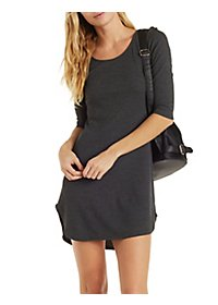 Round Neck Thermal Bodycon Dress