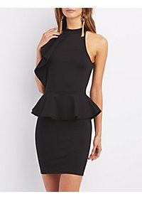 Sleeveless Peplum Bodycon Dress