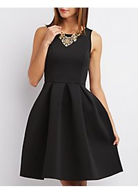 Backless Scuba Skater Dress