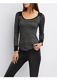 Long Sleeve Ribbed Ringer Top
