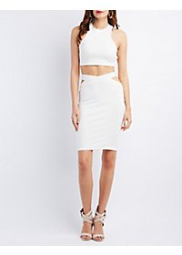 Cut-Out Crop Top & Bodycon Skirt Hook-Up