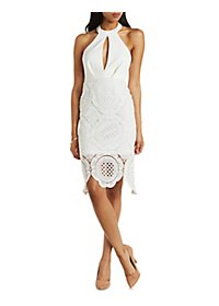 Crochet Halter Bodycon Dress