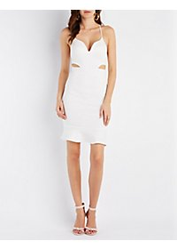 The Vintage Shop Flounced Bodycon Dress