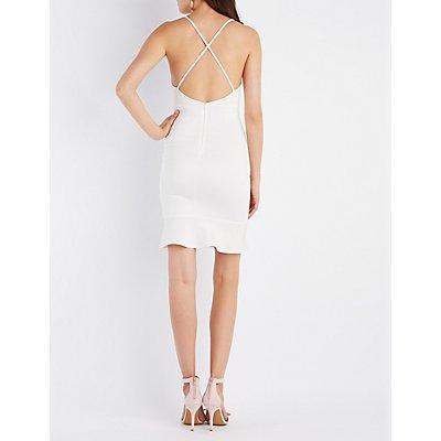 Flounced Bodycon Dress