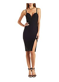 The Vintage Shop Wired Plunge Bodycon Dress
