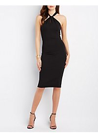 The Vintage Shop Twisted Keyhole Bodycon Dress