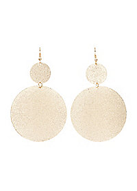 Textured Disk Drop Earrings
