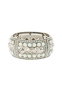 Stud & Jewel Stretch Cuff Bracelet