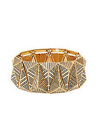 Etched Stretch Cuff Bracelet
