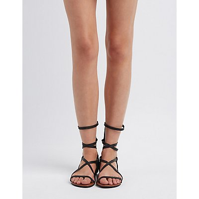 Strappy Ankle Buckle Sandals