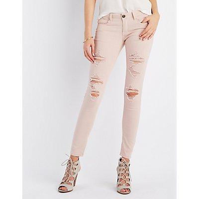 Machine Jeans Distressed Skinny Jeans