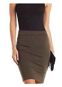 Back Slit Bodycon Skirt