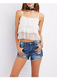 Lace Layered Crop Top