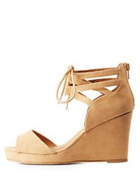 Caged Wedge Sandals