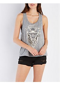 Foil Hamsa Graphic Tank Top