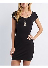 Cap Sleeve Bodycon Mini Dress