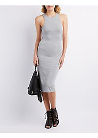 Envelope Back Midi Dress
