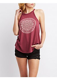 Rhinestone Graphic Tank Top