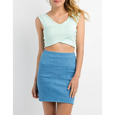 Wrapped Cropped Tank