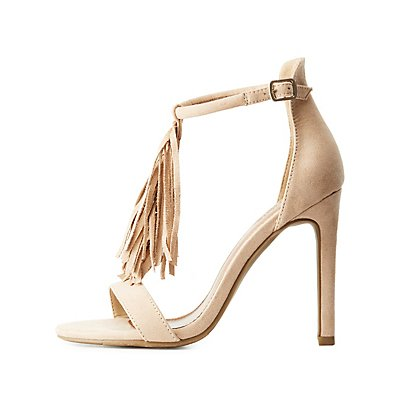Fringed T-Strap Dress Sandals