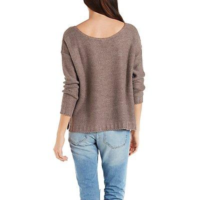 Split Hem Boxy Sweater