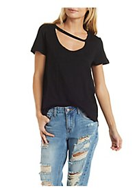 Asymmetrical Cut-Out Tee