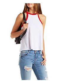 Bib Neck Trapeze Tank Top