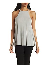 Ribbed Swing Tank Top