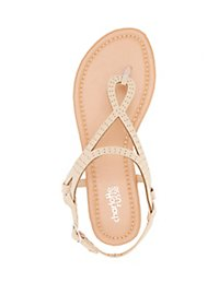 Perforated Thong Sandals