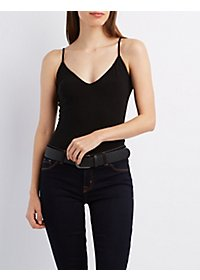 Strappy Open-Back Bodysuit