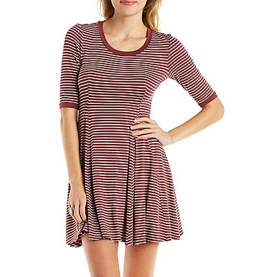 Striped Ringer Skater Dress