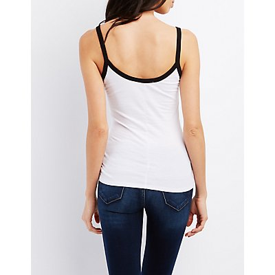 Scoop Neck Ringer Tank Top