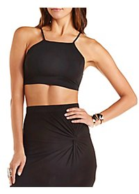 Racer Front & Strappy Back Crop Top