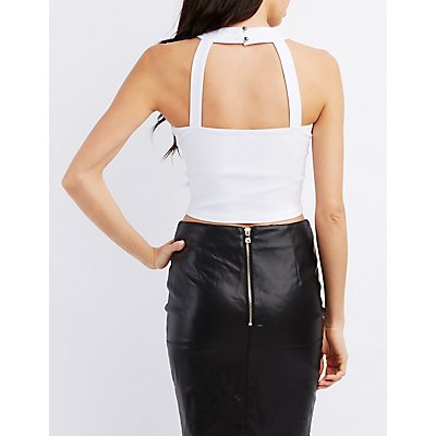 Sweetheart Cut-Out Crop Top