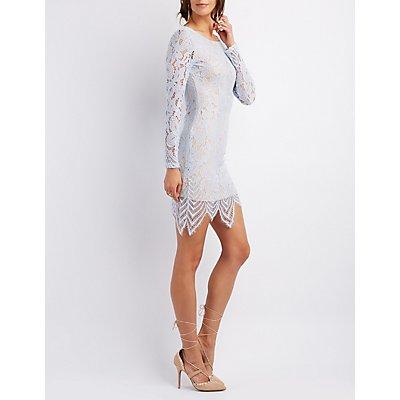 Open Back Lace Midi Dress