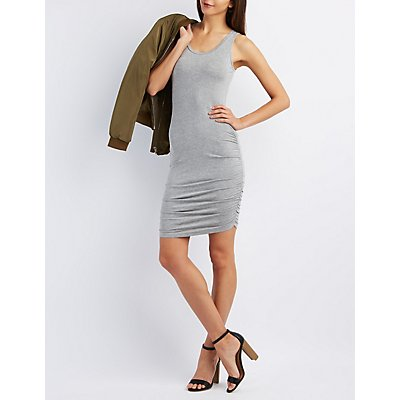 Ruched Sleeveless Bodycon Dress