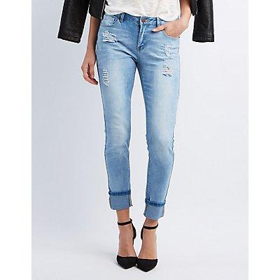 Destroyed Ankle Skinny Jeans