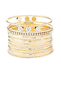 Metal Bling Bangles - 12 Pack