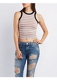 Striped Knit Ringer Tank