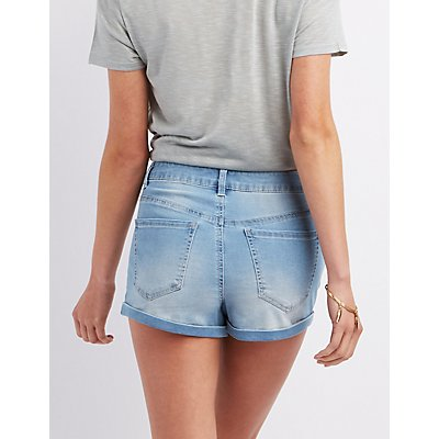Refuge Hi-Rise Roll-Up Shorts
